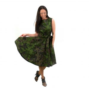 дамска войнишка зелена рокля